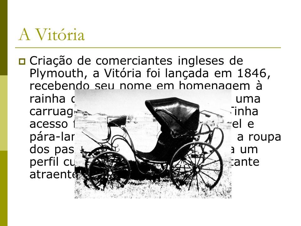 A Vitória Criação de comerciantes ingleses de Plymouth, a Vitória foi lançada em 1846, recebendo seu nome em homenagem à rainha da Inglaterra de então