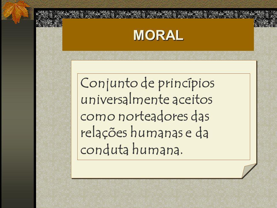 ÉTICA E MORAL Ética é o conjunto de princípios, fundamentos ou referenciais teóricos.