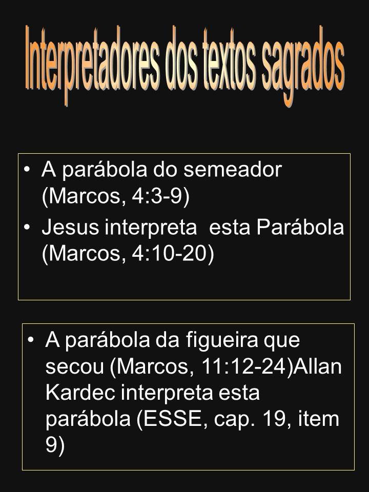 A parábola do semeador (Marcos, 4:3-9) Jesus interpreta esta Parábola (Marcos, 4:10-20) A parábola da figueira que secou (Marcos, 11:12-24)Allan Karde