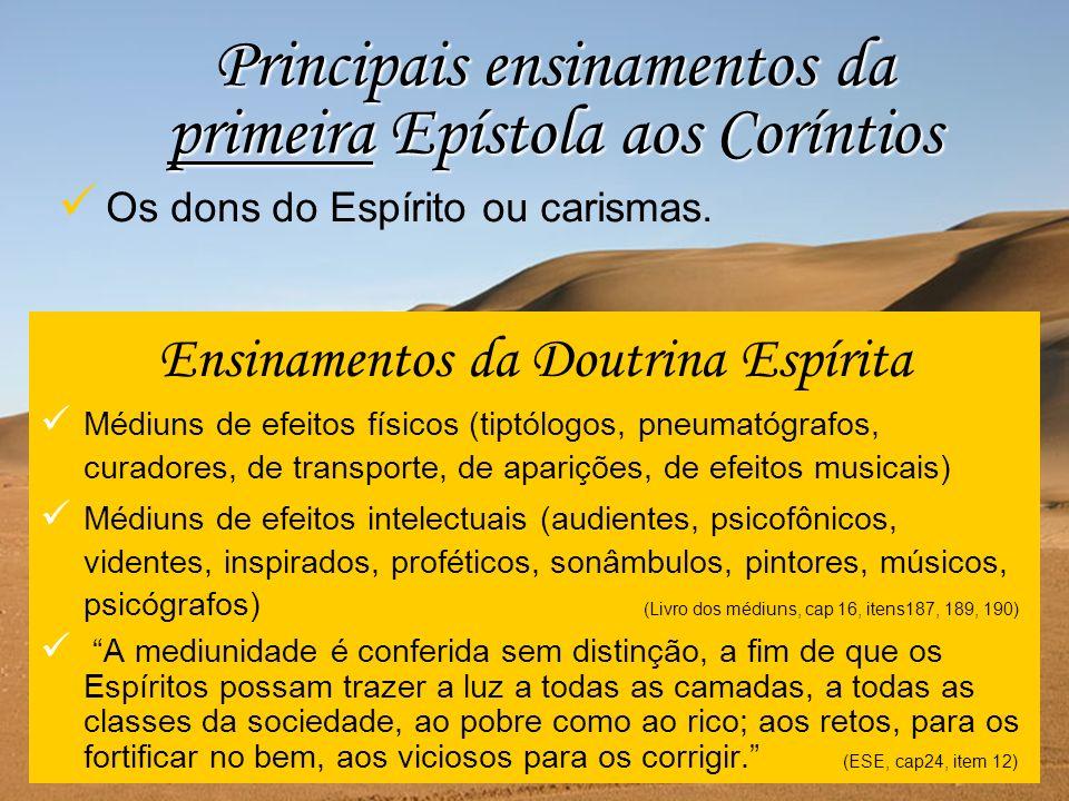 Ensinamentos da Doutrina Espírita Médiuns de efeitos físicos (tiptólogos, pneumatógrafos, curadores, de transporte, de aparições, de efeitos musicais)