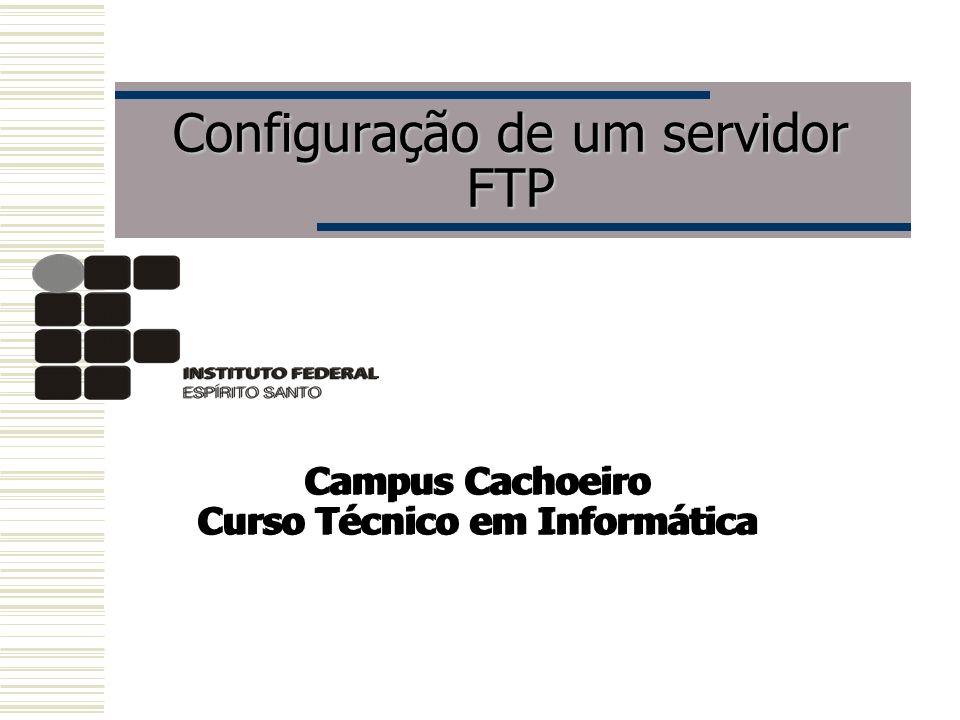Configuração de um servidor FTP Campus Cachoeiro Curso Técnico em Informática Campus Cachoeiro Curso Técnico em Informática