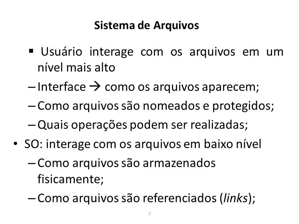 Tipos de Arquivos no Linux Diretórios: representam a estrutura organizacional dos sistemas de arquivo.