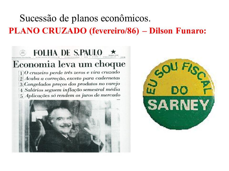 BRASIL REPÚBLICA (1889 – ) 2 – GOVERNO JOSÉ SARNEY (1985 – 1990): PMDB – Transição Democrática Desconfiança inicial - ex-PDS (Arena) –passado ligado a