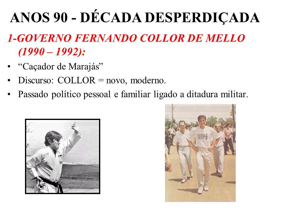 BRASIL REPÚBLICA (1889 – ) Luís Inácio Lula da Silva atropelou Leonel Brizola no final da campanha do 1º turno, vencendo-o por apenas 254 mil votos. F