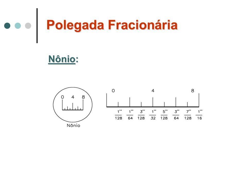 Polegada Fracionária Nônio: