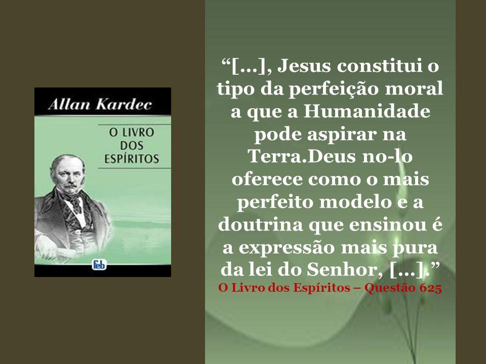[...], Jesus constitui o tipo da perfeição moral a que a Humanidade pode aspirar na Terra.Deus no-lo oferece como o mais perfeito modelo e a doutrina