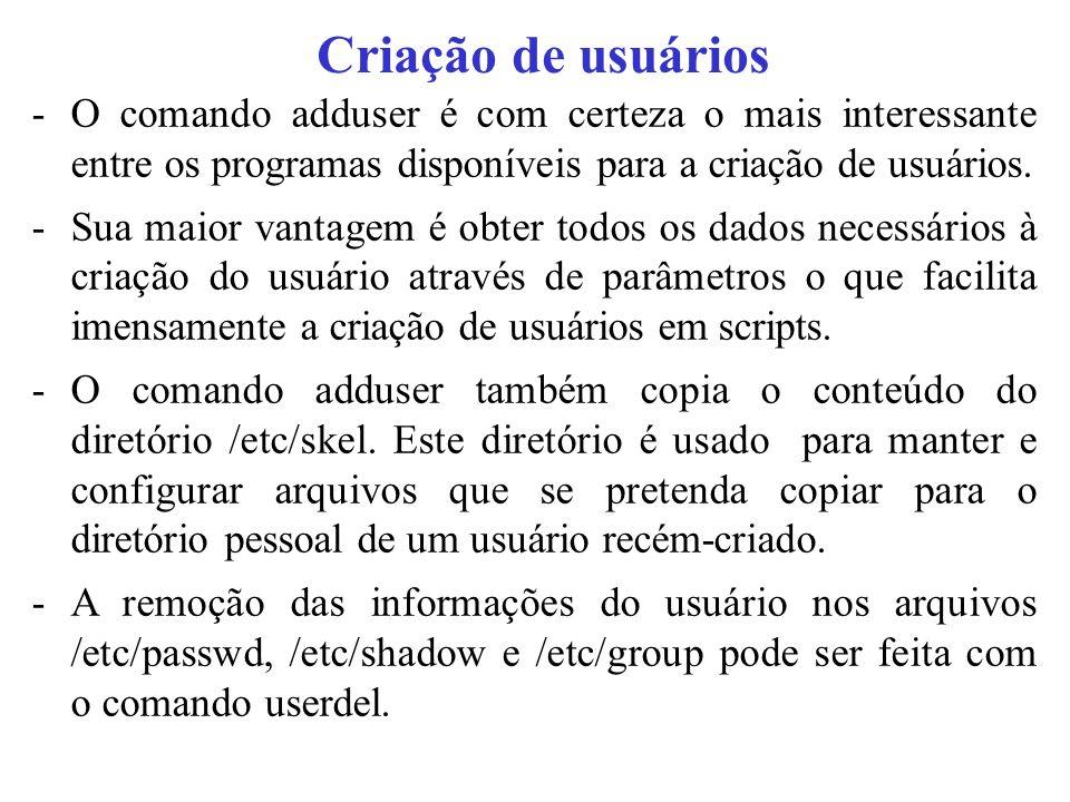 O ARQUIVO /ETC/PASSWD A maioria dos sistemas Unix armazena os dados do usuário no arquivo /etc/passwd.