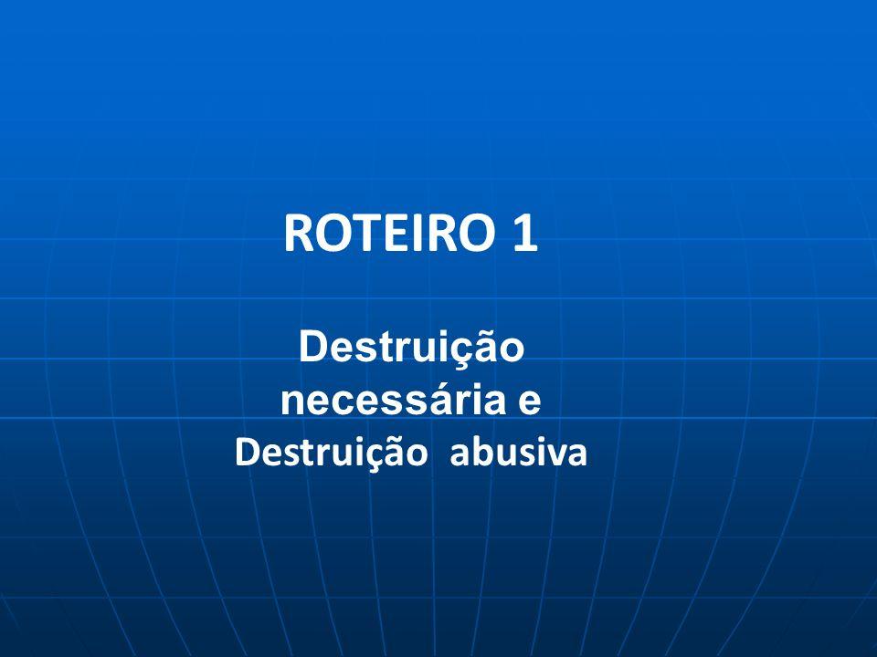 ROTEIRO 1 Destruição necessária e Destruição abusiva