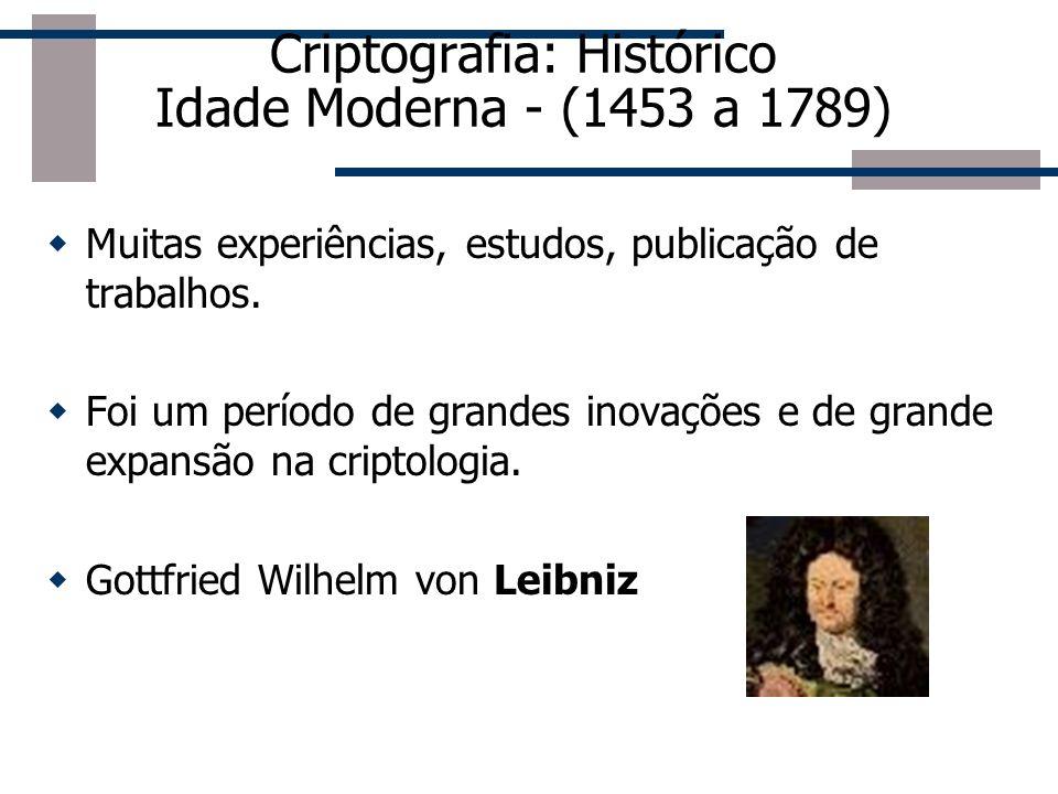 Criptografia: Histórico Idade Média - Cerca de 1119-1311 Criptografia utilizada pelos Templários