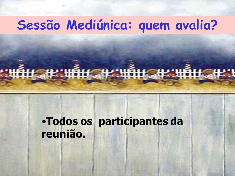 Sessão Mediúnica: quem avalia? Todos os participantes da reunião.