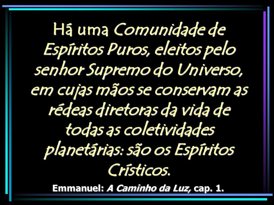 Há uma Comunidade de Espíritos Puros, eleitos pelo senhor Supremo do Universo, em cujas mãos se conservam as rédeas diretoras da vida de todas as cole
