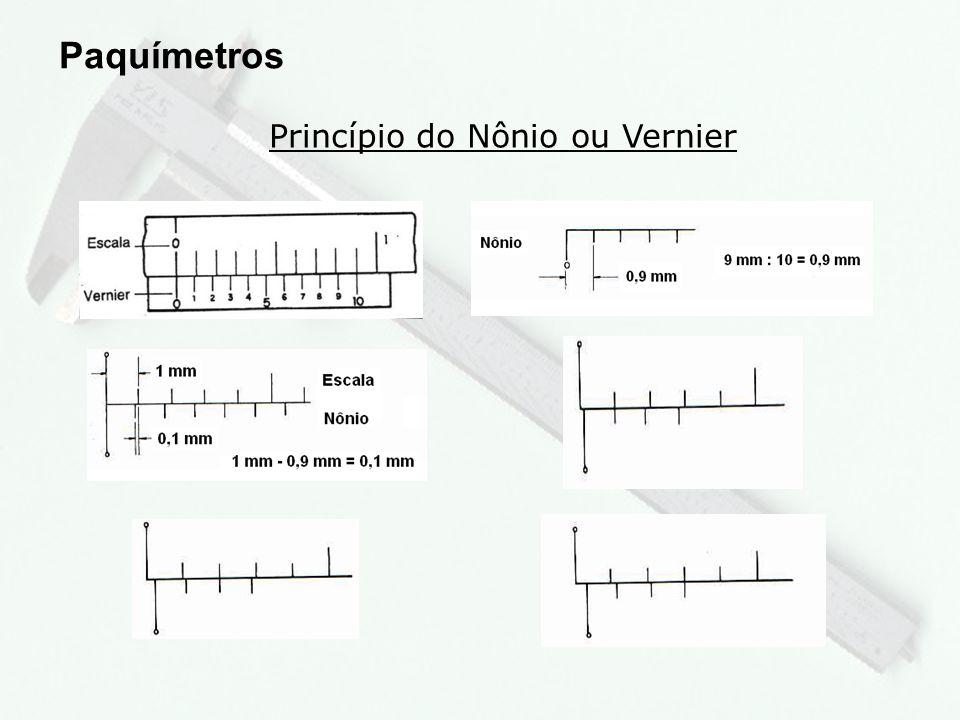 13 Exercício 1 Paquímetros e) Leitura:...................