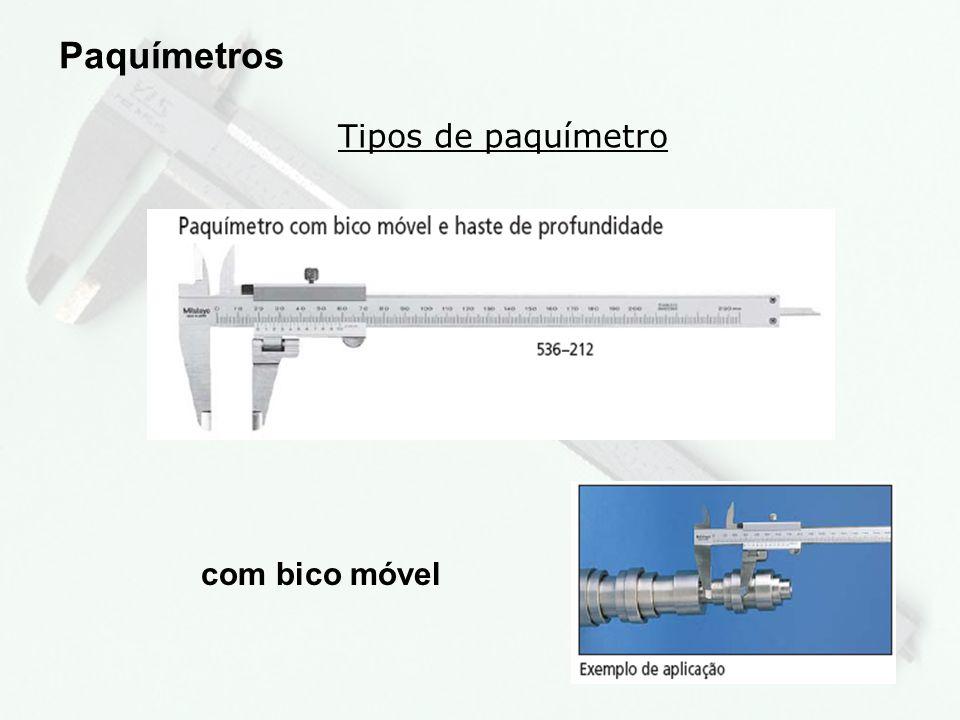 9 Tipos de paquímetro Paquímetros com bico ajustável