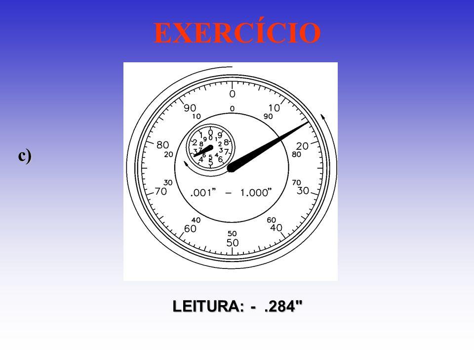 EXERCÍCIO c) LEITURA: -.284