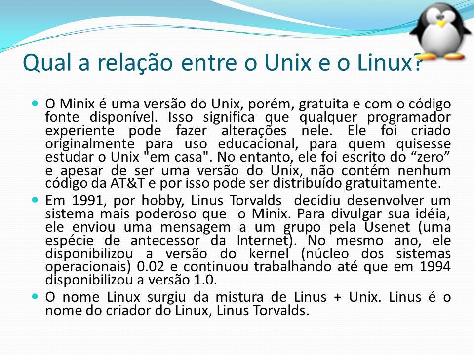 Open Source(Código Aberto) Linus Torvalds, quando desenvolveu o Linux, não tinha a intenção de ganhar dinheiro e sim fazer um sistema para seu uso pessoal, que atendesse suas necessidades.