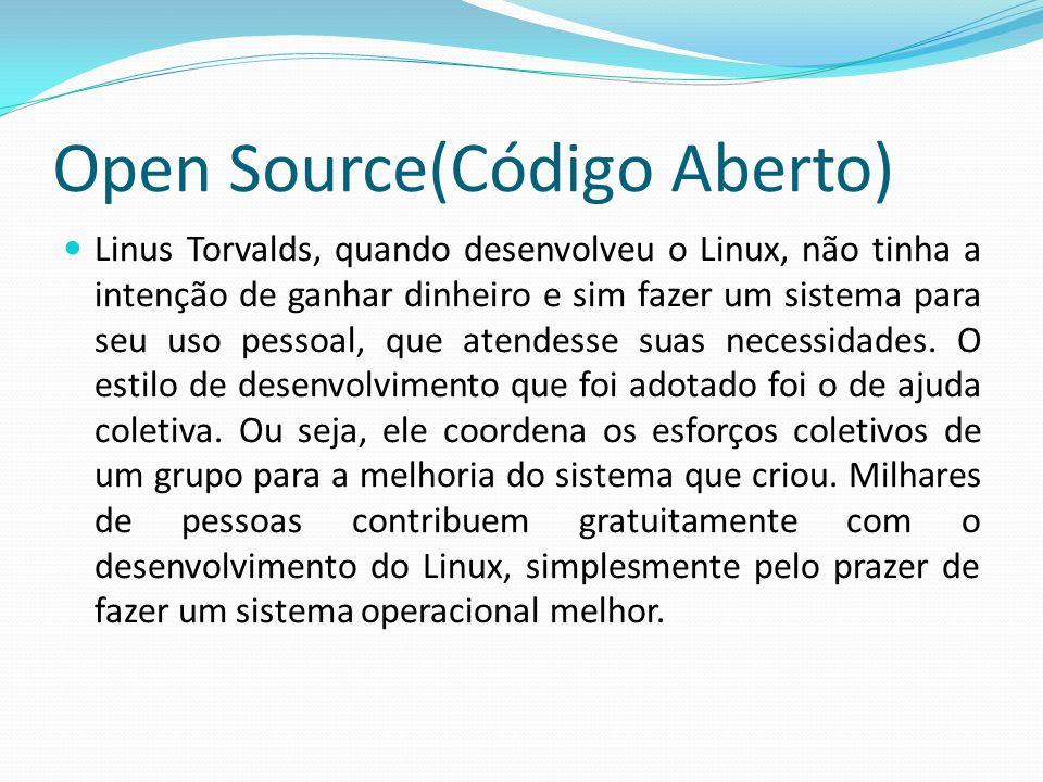Significados GPL General Public License GNU Nome de Animal (parecido com búfalo) é um projeto e não uma Sigla Distribuições Linux (Red Hat, ubuntu, CentOS Mandriva, Fedora, Slackware, etc.)