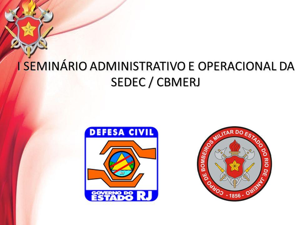 I SEMINÁRIO ADMINISTRATIVO E OPERACIONAL SEDEC / CBMERJ O QUE Uniformização e Controle dos Procedimentos das SST QUEM DGST (responsável).