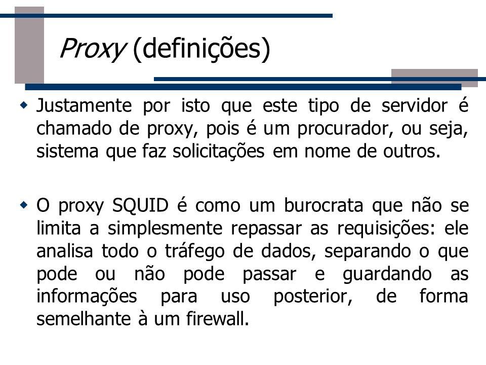 Justamente por isto que este tipo de servidor é chamado de proxy, pois é um procurador, ou seja, sistema que faz solicitações em nome de outros. O pro