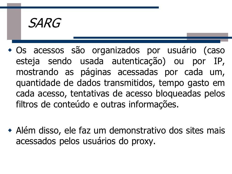 Os acessos são organizados por usuário (caso esteja sendo usada autenticação) ou por IP, mostrando as páginas acessadas por cada um, quantidade de dad
