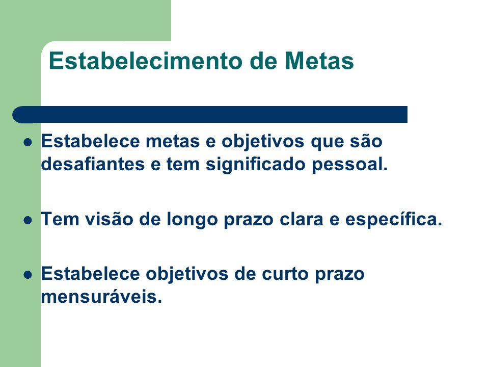 Establecimento de Metas Busca de Informações Planejamento e Acompanhamento Sistemático Busca de Oportunidades e Iniciativas Exigência de Qualidade e E