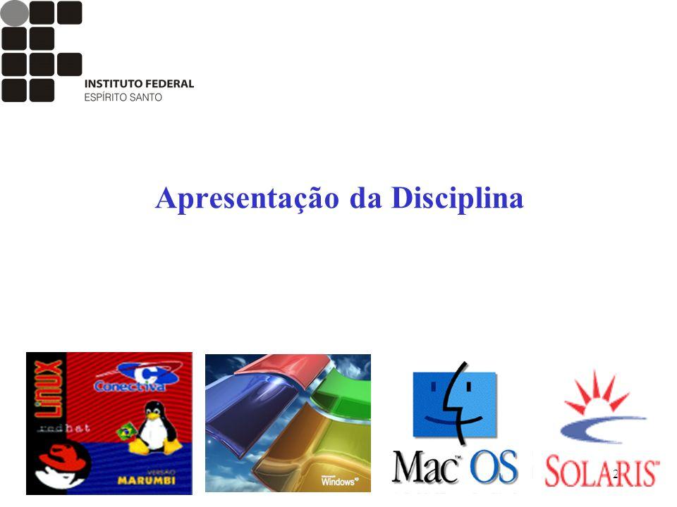 2 Apresentação da Disciplina