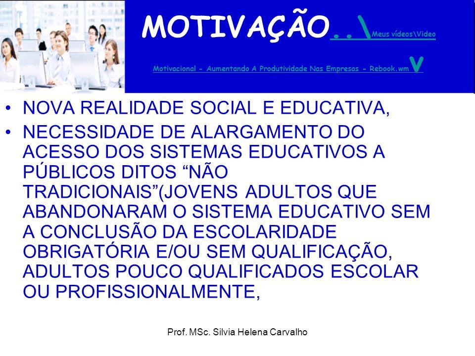 Prof. MSc. Silvia Helena Carvalho MOTIVAÇÃO..\ Meus vídeos\Video Motivacional - Aumentando A Produtividade Nas Empresas - Rebook.wm v..\ Meus vídeos\V