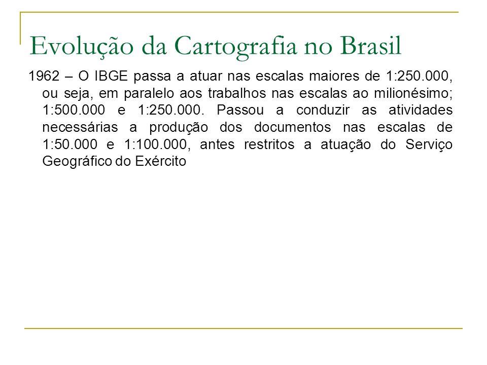 Evolução da Cartografia no Brasil 1966/1967 – O Presidente Castelo Branco estabelece outro grupo de trabalho para definir as Diretrizes e Bases da Política Cartográfica Nacional.