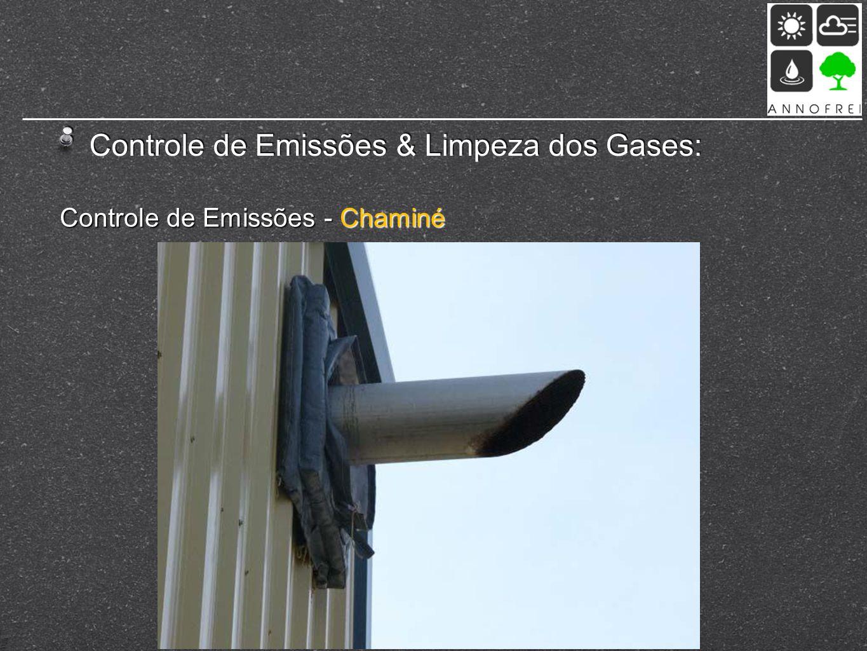 Controle de Emissões & Limpeza dos Gases: Controle de Emissões - Chaminé