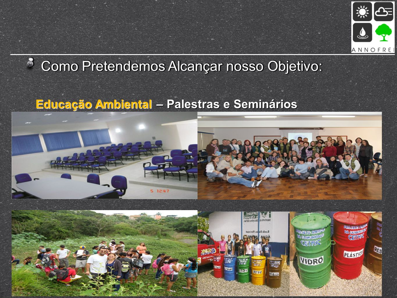 Como Pretendemos Alcançar nosso Objetivo: Educação Ambiental – Palestras e Seminários