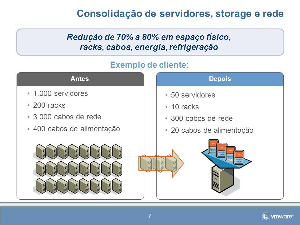 8 Windows Server 2003 Standard, Enterprise, Web Editions e Small Business Server Windows 2000 Server e Advanced Server Windows NT: 4.0 Server Windows XP Professional Red Hat Linux 7.2, 7.3, 8.0 e 9.0 Red Hat Enterprise Linux 2.1 e 3 Solaris 10 (em x86) SUSE Linux 8.2, 9.0 e 9.1 SUSE Linux Enterprise Server 8 Novell NetWare 5.1, 6.0 e 6.5 FreeBSD 4.9 Suporte a sistemas operacionais heterogêneos Liberdade para escolher o sistema operacional mais adequado a qualquer aplicativo
