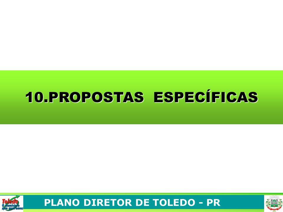 PLANO DIRETOR DE TOLEDO - PR 10.PROPOSTAS ESPECÍFICAS