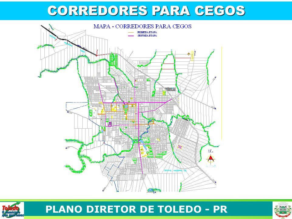 PLANO DIRETOR DE TOLEDO - PR CORREDORES PARA CEGOS