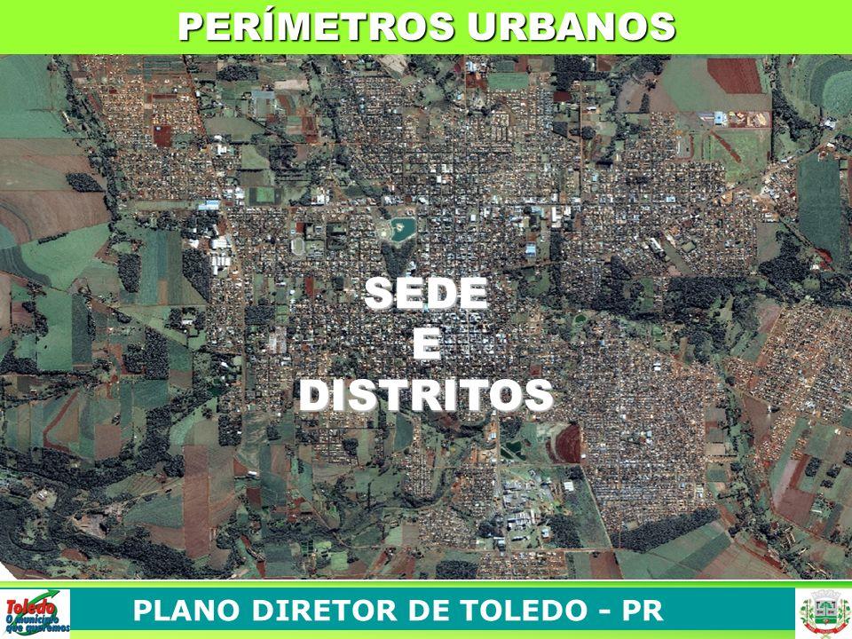 PLANO DIRETOR DE TOLEDO - PR SEDEEDISTRITOS PERÍMETROS URBANOS