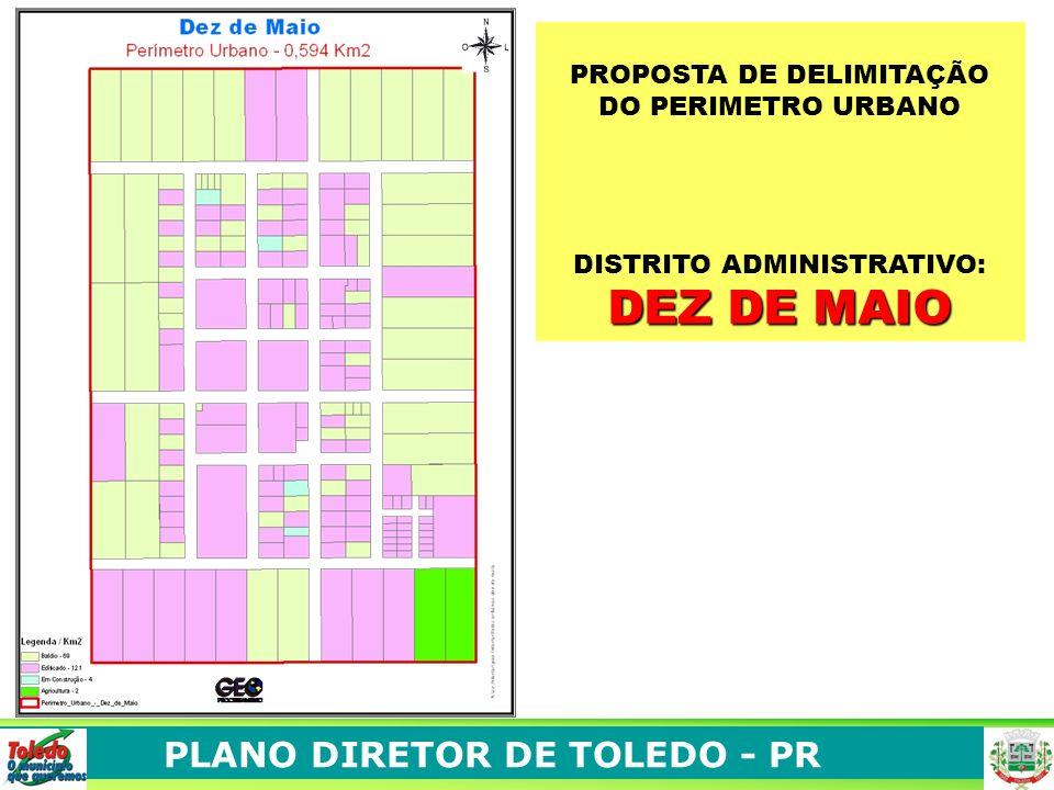 PLANO DIRETOR DE TOLEDO - PR São Jorge está situado no limite da Zona de Amortecimento. Sua área de expansão deve ser para o norte. Expansão 4. ASPECT