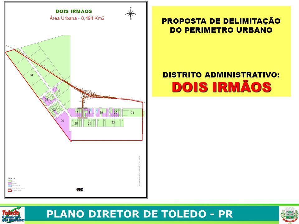 PLANO DIRETOR DE TOLEDO - PR PROPOSTA DE ZONEAMENTO NA SEDE