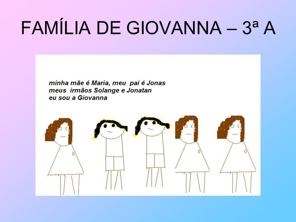 FAMÍLIA DE GIOVANNA – 3ª A