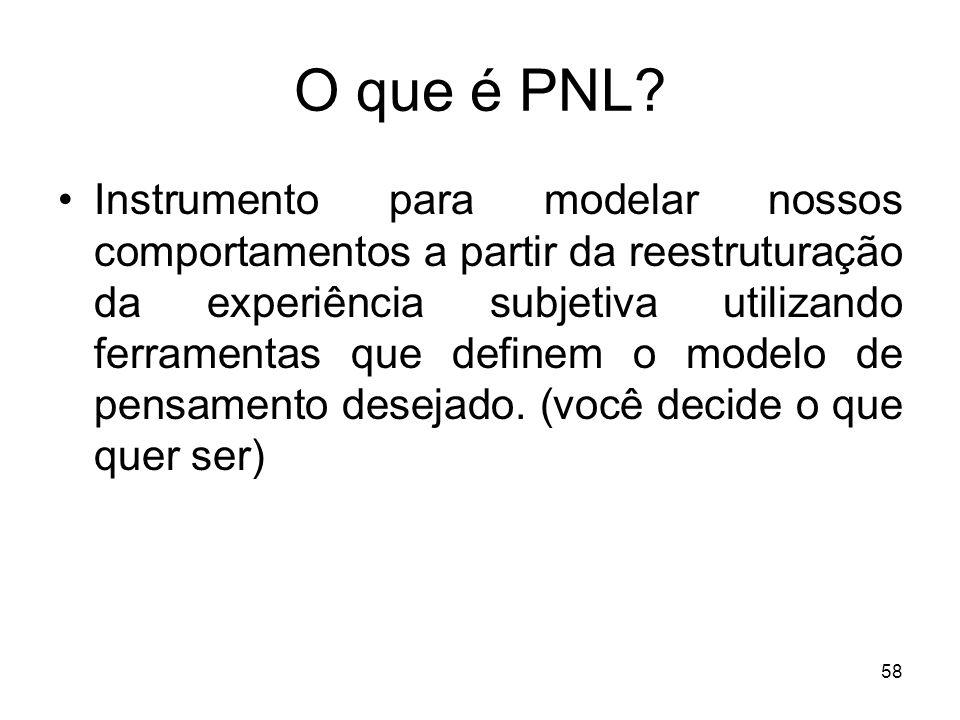 57 Programação neurolinguística (PNL) Auxílio ao ensino