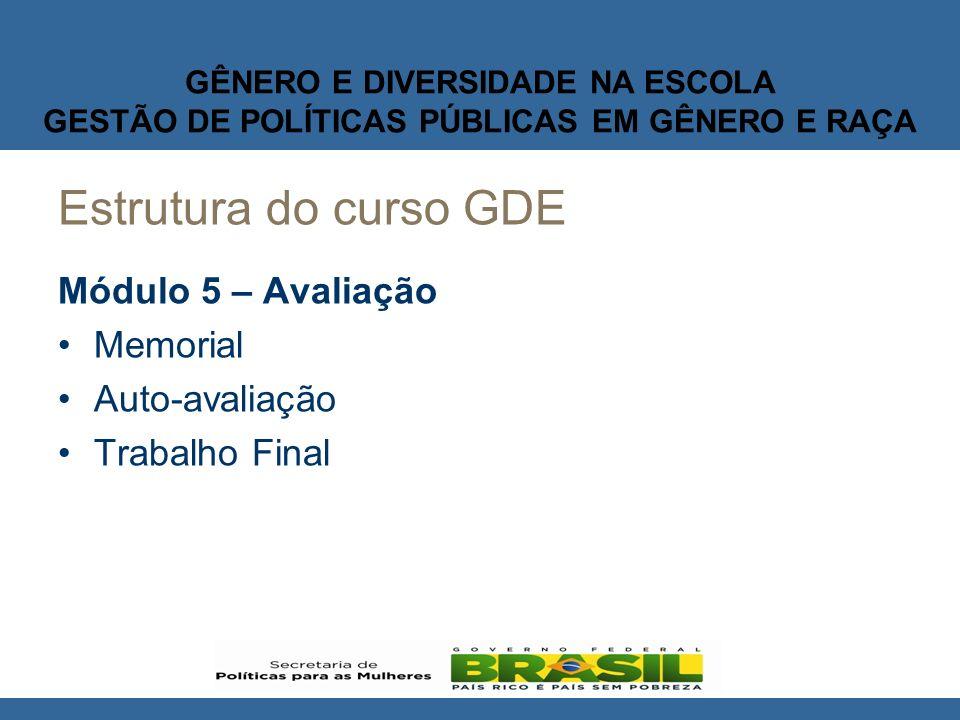 GÊNERO E DIVERSIDADE NA ESCOLA GESTÃO DE POLÍTICAS PÚBLICAS EM GÊNERO E RAÇA MODELO PEDAGÓGICO