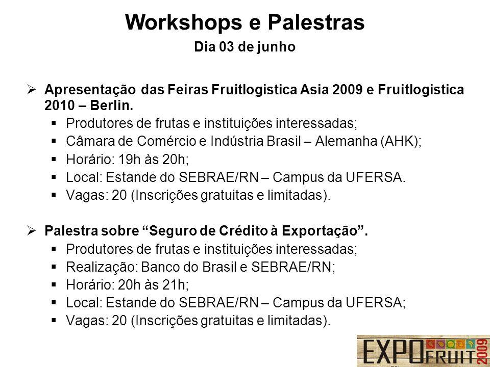 Apresentação das Feiras Fruitlogistica Asia 2009 e Fruitlogistica 2010 – Berlin. Produtores de frutas e instituições interessadas; Câmara de Comércio