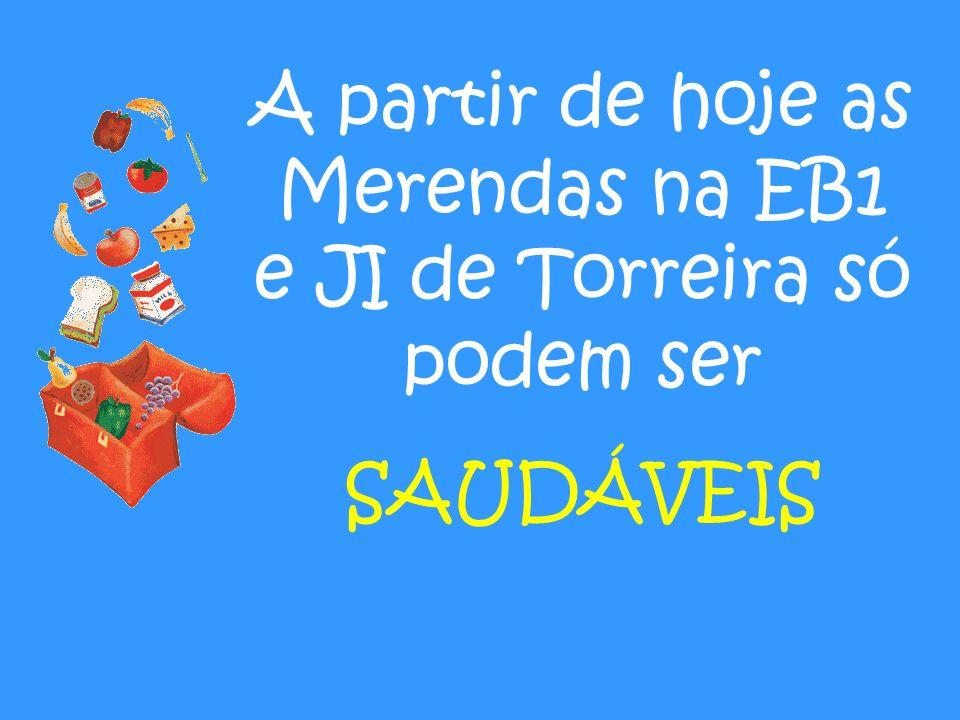 A partir de hoje as Merendas na EB1 e JI de Torreira só podem ser SAUDÁVEIS