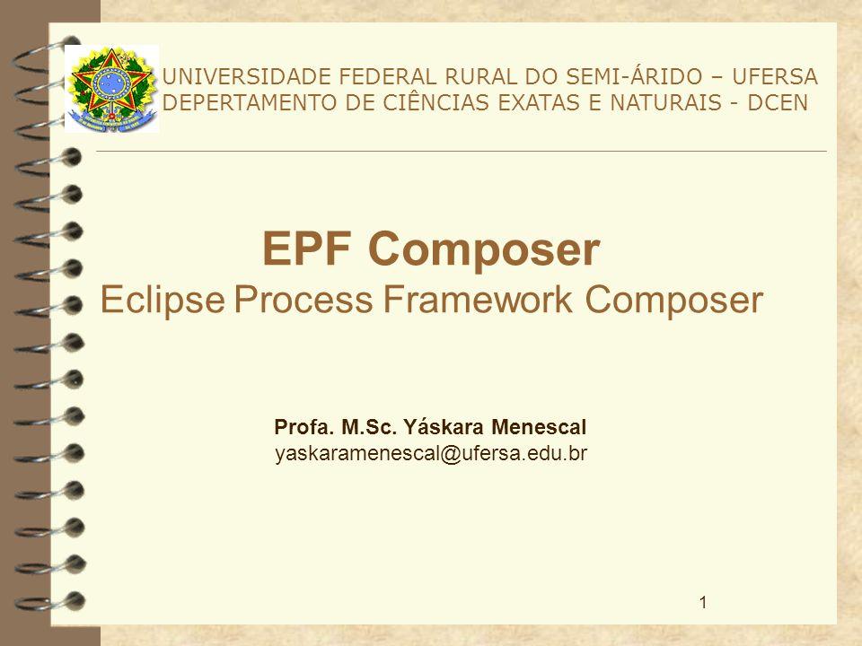 12 Conceitos Básicos 4 É possível portanto, verificar como o EPF é voltado para o reuso.