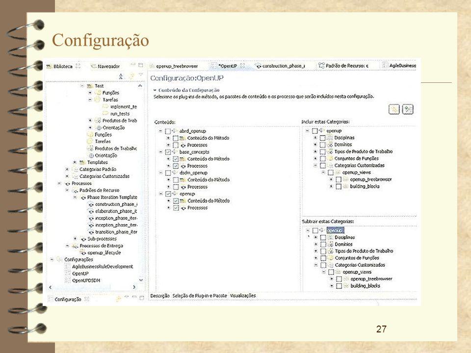 27 Configuração