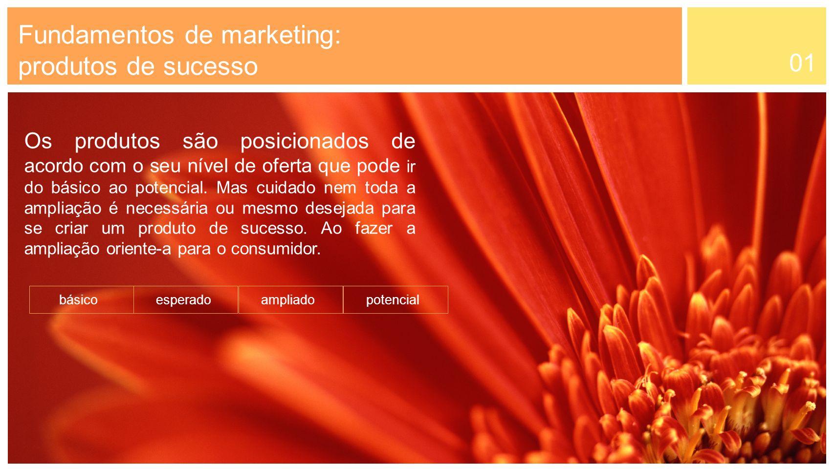 01 Fundamentos de marketing: produtos de sucesso Uma outra opção é usar o custo baixo para se diferenciar dos outros concorrentes.