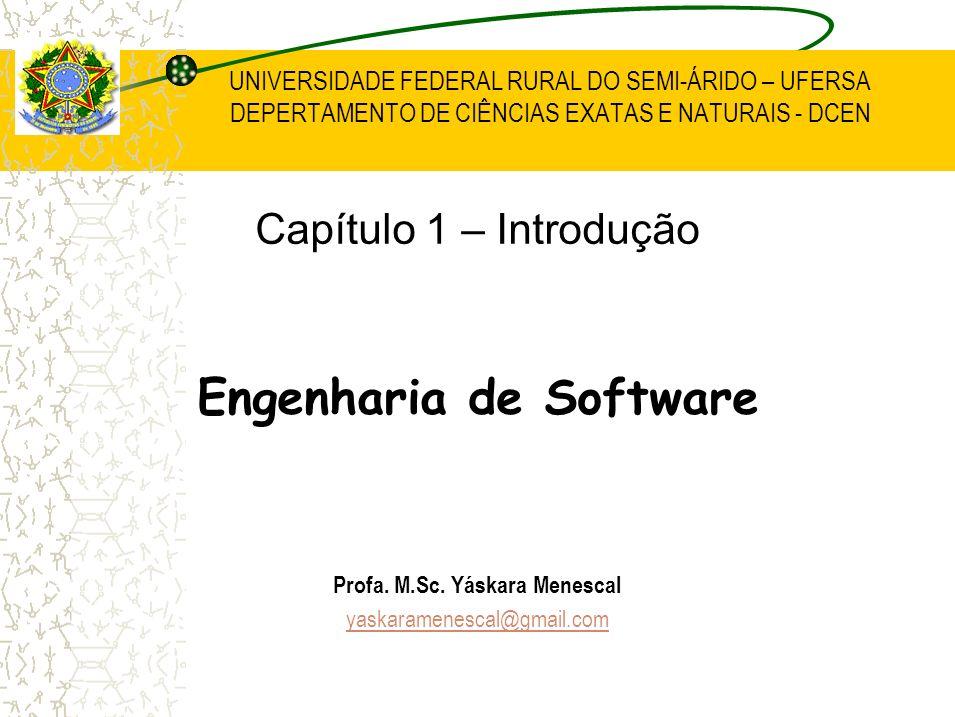 UNIVERSIDADE FEDERAL RURAL DO SEMI-ÁRIDO – UFERSA DEPERTAMENTO DE CIÊNCIAS EXATAS E NATURAIS - DCEN Capítulo 1 – Introdução Engenharia de Software Pro