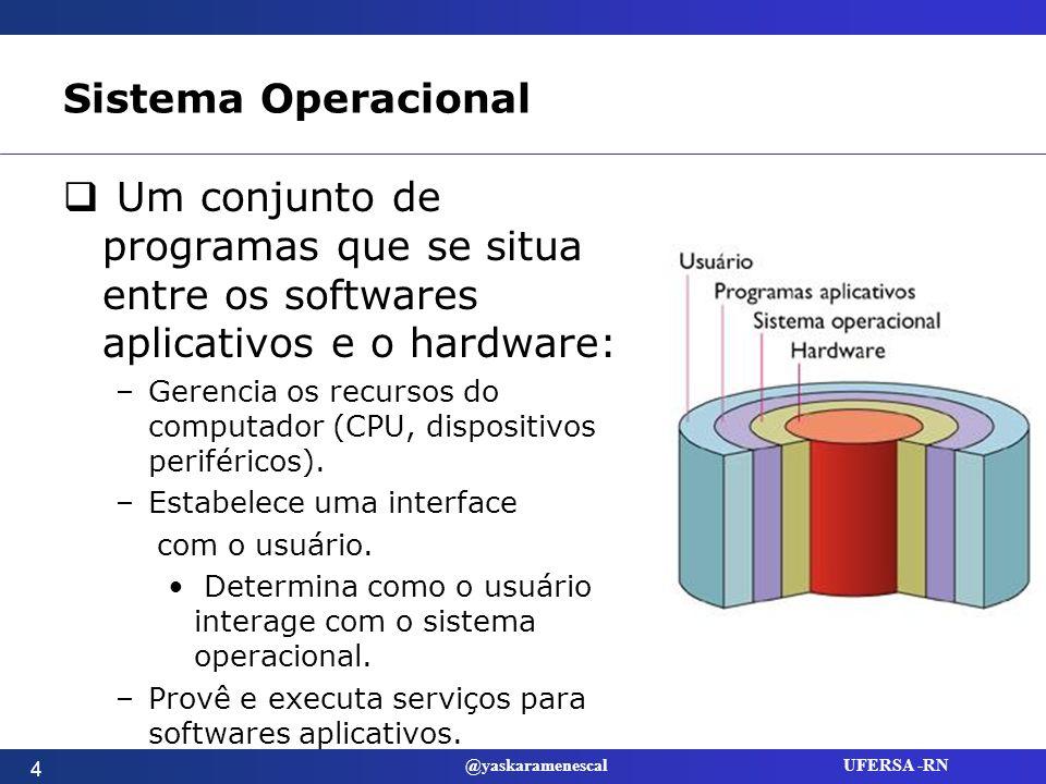 @yaskaramenescal UFERSA -RN Software de Sistemas Todos os programas relacionados à coordenação das operações do computador.