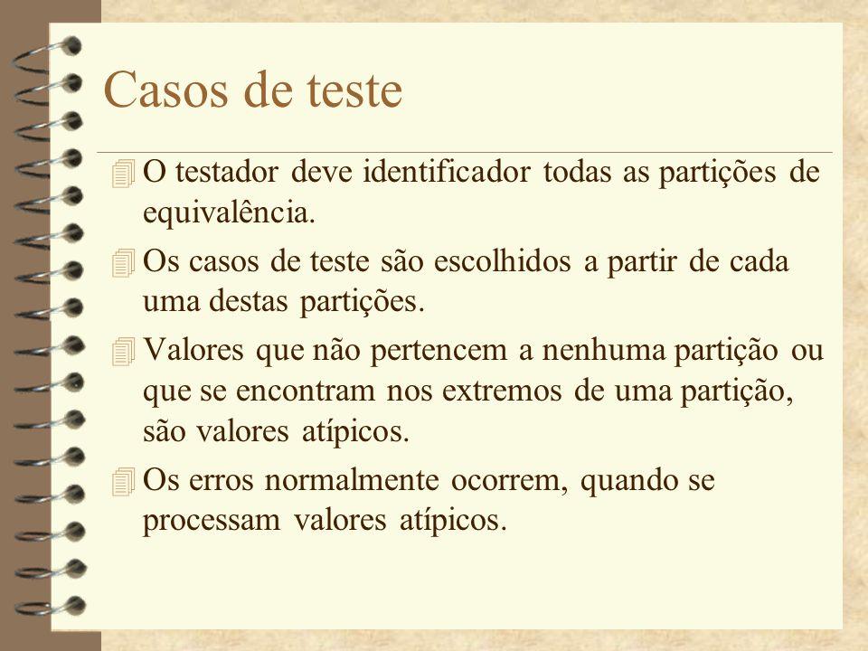 Outras diretrizes de testes 4 Utilizar seqüências com somente um único valor.