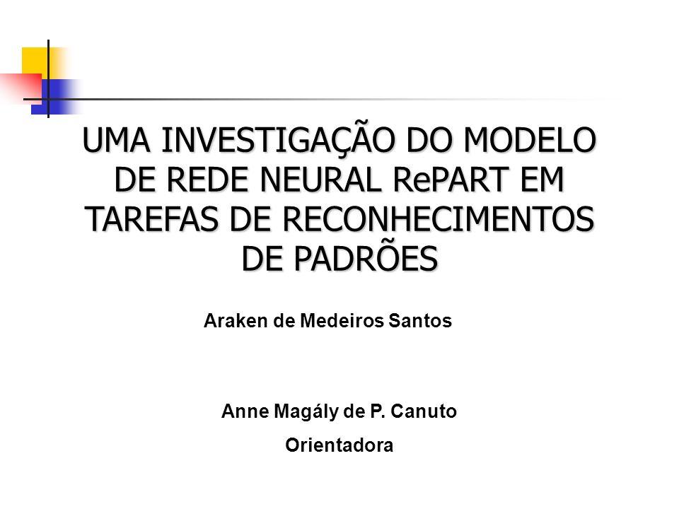 UMA INVESTIGAÇÃO DO MODELO DE REDE NEURAL RePART EM TAREFAS DE RECONHECIMENTOS DE PADRÕES Araken de Medeiros Santos Anne Magály de P. Canuto Orientado