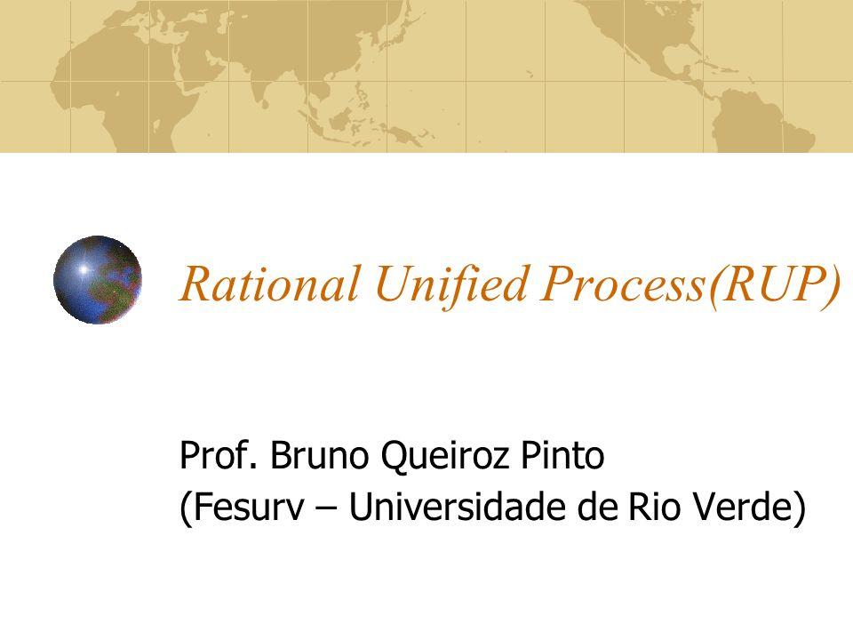 Rational Unified Process(RUP) Prof. Bruno Queiroz Pinto (Fesurv – Universidade de Rio Verde)