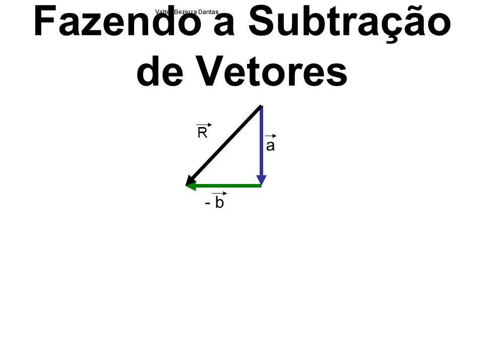 Fazendo a Subtração de Vetores a - b R Valter Bezerra Dantas