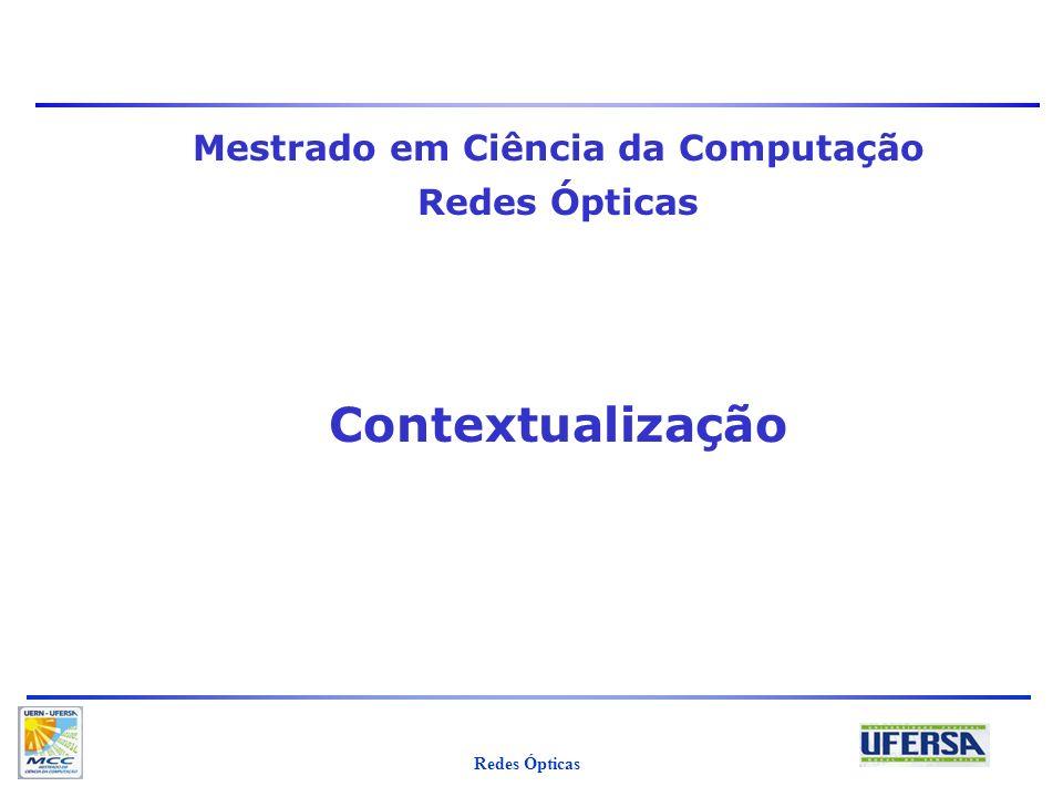 Redes Ópticas Iguatemi E. Fonseca 32 Problemáticas para estudo